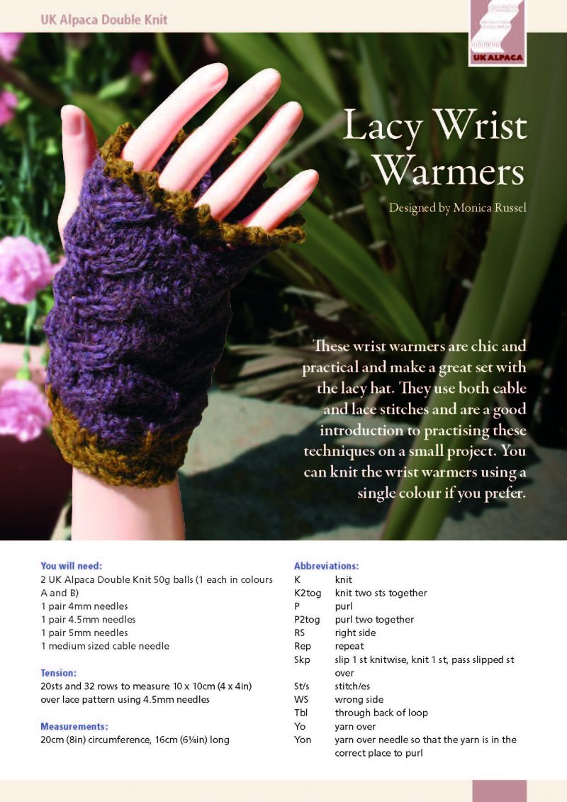 Lacy Wrist Warmers by Monica Russel