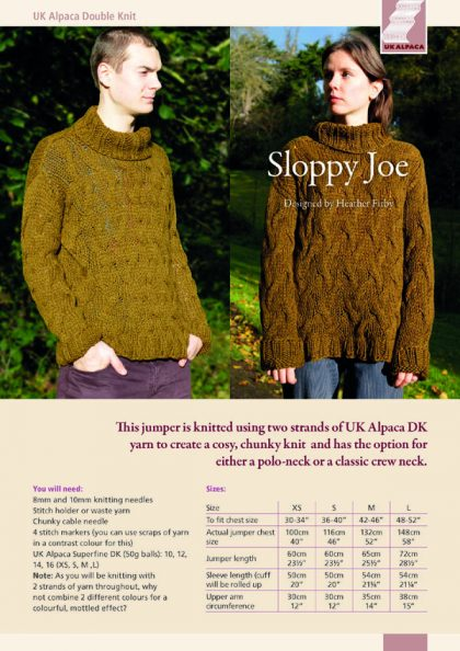 Sloppy Joe Jumper by Heather Firby