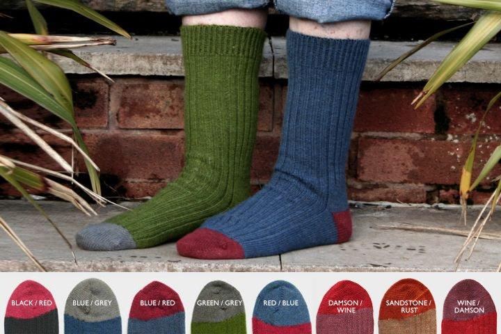 Sock Knitting Kits Uk : Uk alpaca posh socks rib contrast