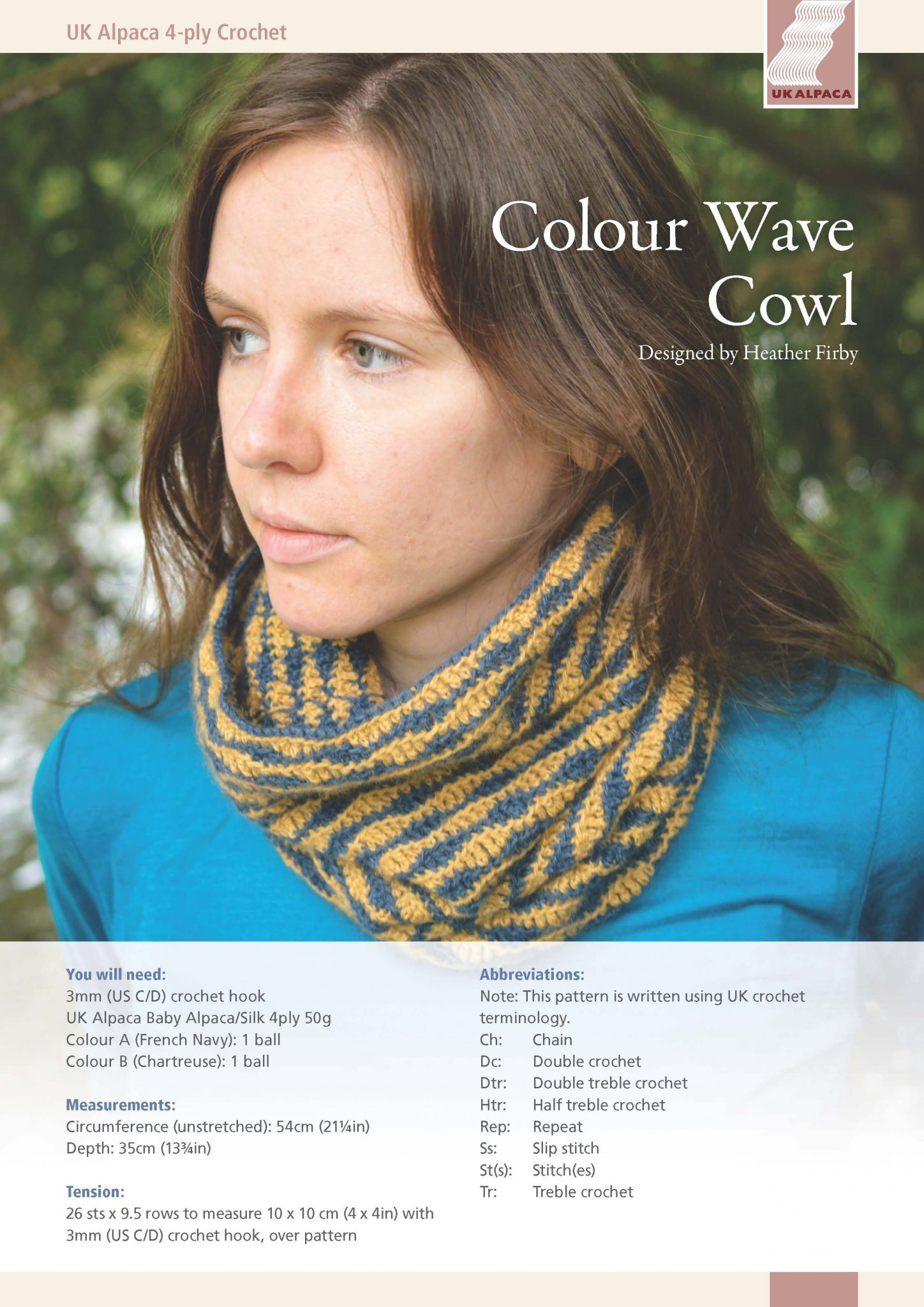 b1fde5026 Colour Wave Cowl by Heather Firby