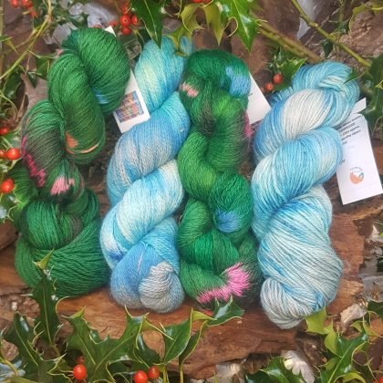 Christmas Hand Dyed Yarns